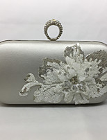 Women Evening Bag PU All Seasons Event/Party Oval Push Lock Silver Black Gold
