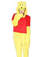 kigurumi Pyjamas Ours Fête / Célébration Pyjamas Animale Halloween Mode Brodée Flanelle Costumes de Cosplay Kigurumi Pour Couple Unisexe