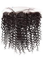 Onda profunda de encaje frontal de cierre de pelo humano brasileño remy con el cabello del bebé 130% de densidad con la línea de pelo