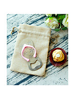 Pink Bachelorette / Bridesmaids Flip Flop Bottle Opener in Burlap Bag Beter Gifts® Party Favors