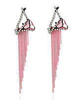 Women's Earrings Set Basic Tassel Rhinestone Alloy Jewelry For Party Gift Evening Party Stage Club