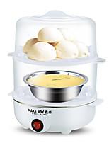 Egg Cooker Entièrement automatique Type de vapeur Double Eggboilers Multifonction Style mini Lavable Détachable 220V