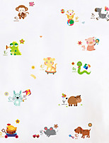 Wall Stickers Wall Decals Cute Animal Cartoons PVC Wall Stickers