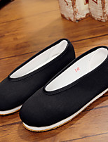Boys' Loafers & Slip-Ons Comfort Fabric Spring Summer Casual Comfort Flat Heel Black Flat