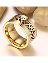 Муж. Классические кольца Мода Винтаж По заказу покупателя Титановая сталь Круглый Бижутерия Назначение Свадьба Обручение Повседневные