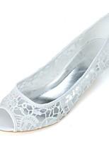 Feminino Sapatos De Casamento Sapatos formais Primavera Verão Tricô Casamento Festas & Noite Salto Grosso Branco Rosa claro 2,5 a 4,5 cm