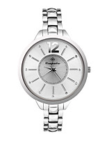 Women's Men's Fashion Watch Quartz Metal Band Casual White