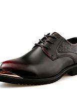 Для мужчин обувь Кожа Осень Удобная обувь Формальная обувь Туфли на шнуровке С металлическим носком Назначение Для вечеринки / ужина