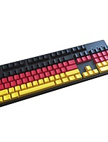 German Team Side Prited PBT Keycap 104 Keys Set for Mechanical Keyboard