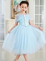 Girl's Solid Dress,Cotton Polyester Summer Sleeveless