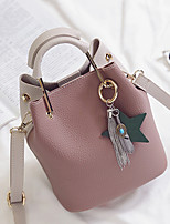 Women Bags All Seasons PU Tote with for Wedding Event/Party Casual Formal Office & Career White Pale Pink Purple Yellow