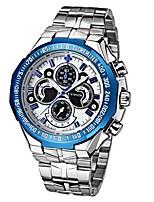 WWOOR Муж. Спортивные часы Китайский Кварцевый Нержавеющая сталь сплав Группа Cool Повседневная Серебристый металл