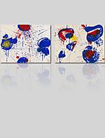 Toile Abstrait,Deux Panneaux Toile Imprimé Décoration murale For Décoration d'intérieur