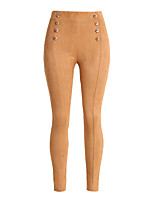 Damen Sexy Einfach Hohe Hüfthöhe Mikro-elastisch Eng Chinos Schlank Skinny Hose Solide