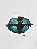 Wall Stickers Wall Decas Style Halloween Pumpkin Head witch Ghost PVC Wall Stickers