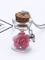 Women's Pendant Necklaces Tube Flower Alloy Fashion Adorable Jewelry For Wedding Party Birthday Graduation Gift Daily