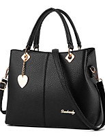 Women Bags Spring/Fall All Seasons PU Shoulder Bag with Sweetheart for Event/Party Casual Formal Office & Career Black Silver Dark Blue