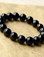Fashion Sparkling Obsidian Beaded Bracelet