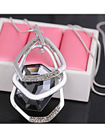 Women's Pendant Necklaces Rhinestone Crystal Alloy Personalized Jewelry For Wedding Party Halloween Birthday
