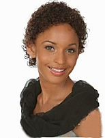 Sexy Women's Glueless Brown Color Deep Curly Short Hair Wig For African American Synthetic Wig