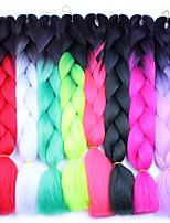 Огромный Box плетенки Коса с омбре 100% волосы канеколонЧерный Красный Черный / синий Черный / Фиолетовый Черный / зеленый Серый с