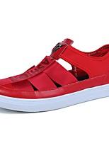 Для мужчин Мокасины и Свитер Удобная обувь Весна Осень Полиуретан Повседневные На плоской подошве Белый Черный Красный 4,5 - 7 см