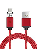 Cwxuan® Magnetic Ring Anti-Interference Micro USB Detachable Magnetic Braided Charging Data Cable (100cm)