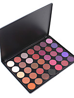 35P Plum Eyeshadow Palette Purple Reign Shimmering Eyes Makeup Smoky Shadow Make Up Set Warm Highly Pigmented Kit