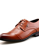 Men's Oxfords Driving Shoes Formal Shoes Spring Fall Synthetic Microfiber PU Casual Outdoor Office & Career Party & Evening Lace-up Flat