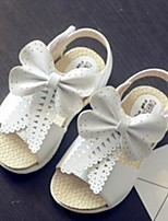Girls' Sandals Comfort Summer PU Casual Blushing Pink White Flat