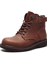 Men's Boots Amir's Combat Boots Cowhide Leather Casual Outdoor Walking Brown Black