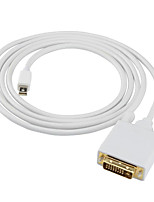 Mini DisplayPort Adapter Cable, Mini DisplayPort to DVI Adapter Cable Male - Male 1080P Gold-plated copper