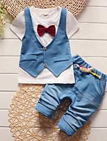 Boys' Patchwork Sets,Cotton Summer Short Sleeve Clothing Set