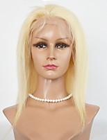 Mujer Pelucas de Cabello Natural Cabello humano Encaje Frontal 130% Densidad Peluca Blonde Corto Medio Entradas Naturales Para mujeres de