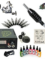 Basekey High Born Tattoo Kit H015-A6 1 Machine With 7 Inks Power Supply 10PCS Needles