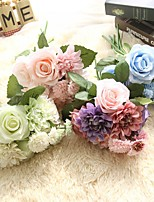 11inch Large Size 6 Heads Silk Polyester Roses Tabletop Flower Artificial Flowers