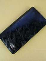Men Checkbook Wallet Cowhide All Seasons Daily Casual Rectangle Without Zipper Black