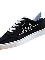 Для мужчин Кеды Удобная обувь Резина Весна Осень Шнуровка На плоской подошве Белый Черный Темно-синий Красный Менее 2,5 см
