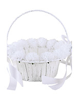 White Flower Basket Lace Rattan 7 7/8 (20 cm) Laces Flowers Flower(s) Mini Spot 1