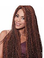 Afro Kinky Tresses Tresses au Crochet Afro JheriCurl Tissu bouclé Cheveux 100 % Kanekalon Marron Doré Moyen Blond de fraise Blond Platine