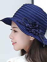 Women's Summer Sun Flowers Basin Cloth Fisherman Folding Beach Cap