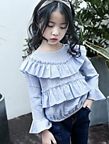 Girls' Others Shirt,Cotton Linen Spring Fall Long Sleeve