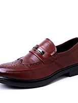 Men's Loafers & Slip-Ons Comfort Light Soles Formal Shoes Driving Shoes Spring Fall Real Leather Cowhide Wedding Casual Party & Evening