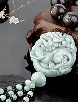 DIY   Automotive Pendants  Chinese Style  Emerald jade Brave Troops  Car Pendant & Ornaments Alloy Cotton Tassels
