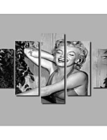 Marilyn Monroe Portrait Oil Painting Beauty Figure Prints HD Large 5 Pieces Combined Posters For Modern Home Livingroom Background Wall Artworks