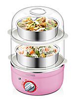 Egg Cooker Double Eggboilers Nouveaux Ustensiles de Cuisine 220V 3 en 1 Fonction de synchronisation Mignon Indicateur d'alimentation