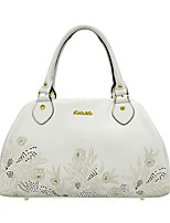 Women Bags All Seasons Cowhide Tote with for Event/Party Casual White