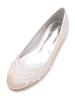 Femme Chaussures de mariage Confort Ballerine Satin Printemps Eté Mariage Habillé Soirée & Evénement Applique Fleur en Satin FleurTalon