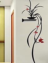Botânico Floral/Botânico Romance Adesivos de Parede Autocolantes 3D para Parede Autocolantes de Parede Decorativos,Acrílico Material