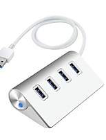 Rocketek USB 3.0 Aluminum LED 4 Ports HUB Super Speed Charging Interface USB Splitter For Pro Phone iMac Macbook Keyboard Mouse USB3-4PL-LED